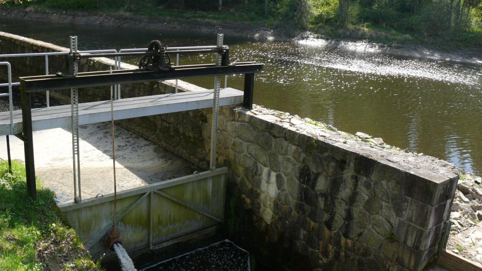 Soběnovská přehrada sloužící jako vodní elektrárna
