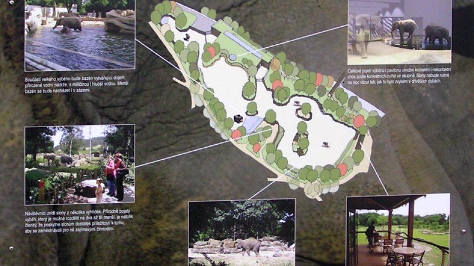 Na nový pavilón slonů, který vyrůstá v horní části zahrady nedaleko Afrického domu, se mohou návštěvníci těšit v příštím roce