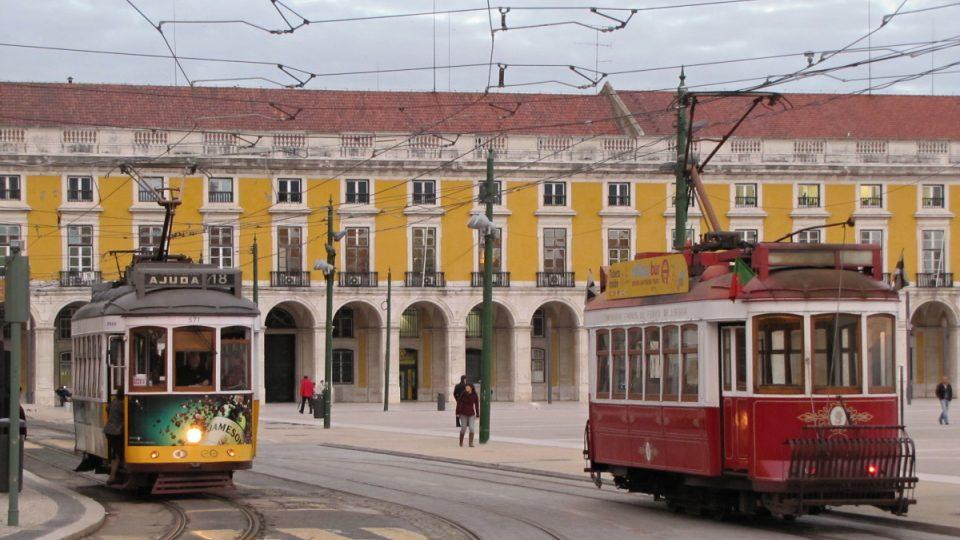 Historické tramvaje patří neodmyslitelně ke koloritu Lisabonu