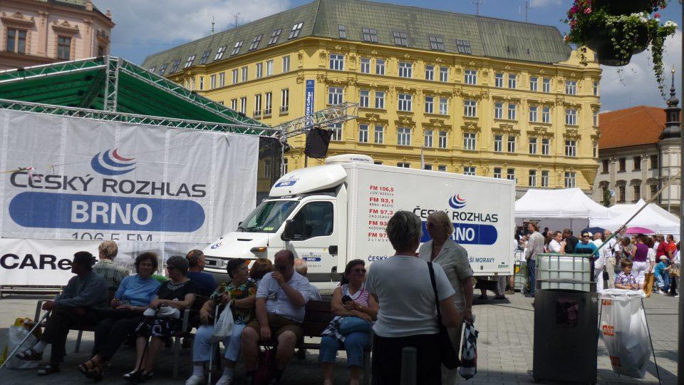 Po celý víkend bylo náš rozhlas na náměstí skutečně hodně vidět