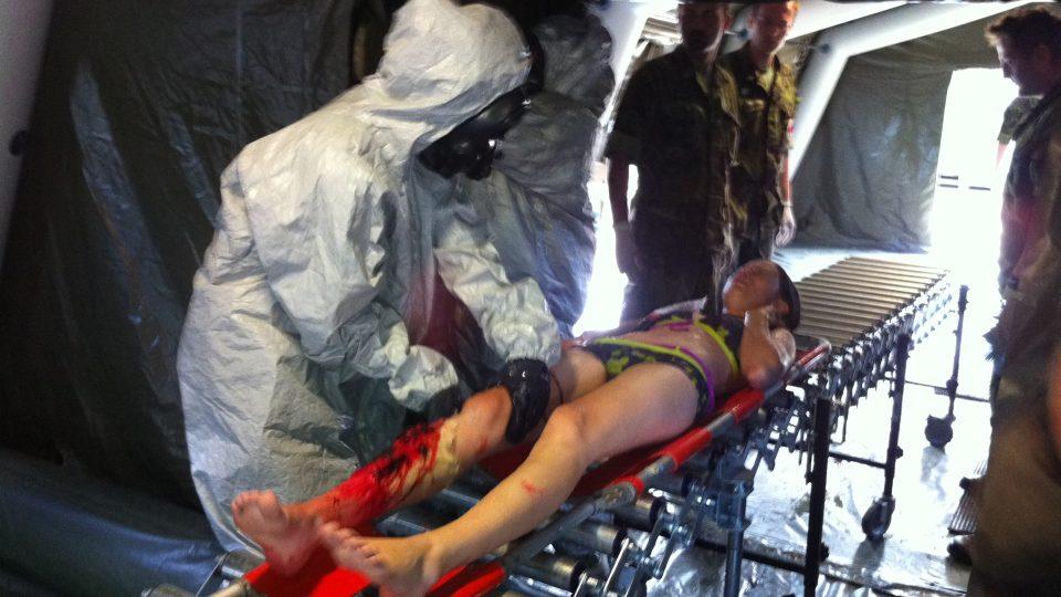Cvičení lékařů a chemiků v HK