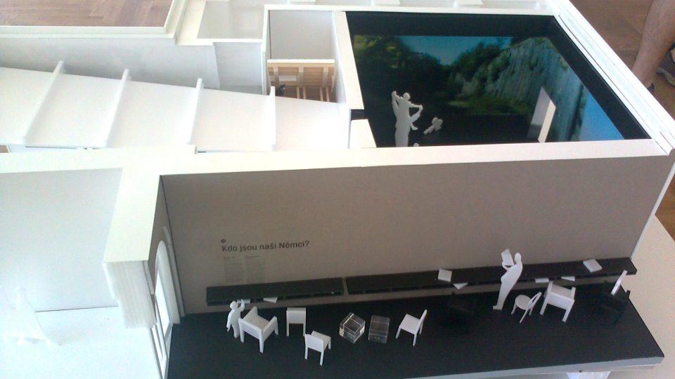Collegium Bohemicum - model expozice architektů vedených Kristinou Magasanikovou, druhé místo