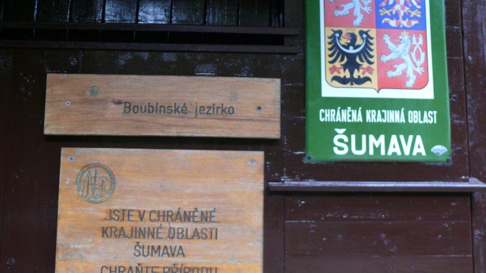 Boubínské jezírko je v chráněné krajinné oblasti Šumava