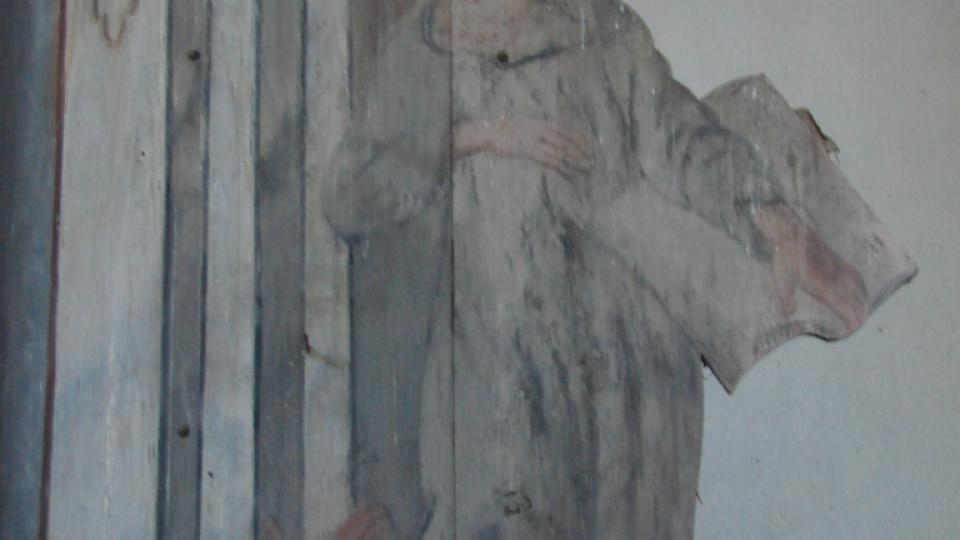 Kostel Zvěstování Panny Marie v Janovičkách - detail oltáře
