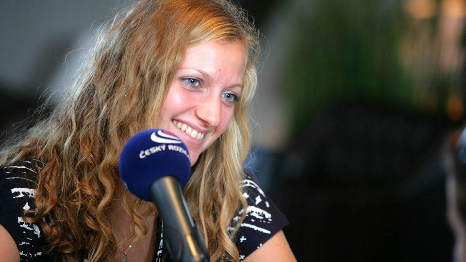 Petra Kvitová byla středečním hostem Radiožurnálu