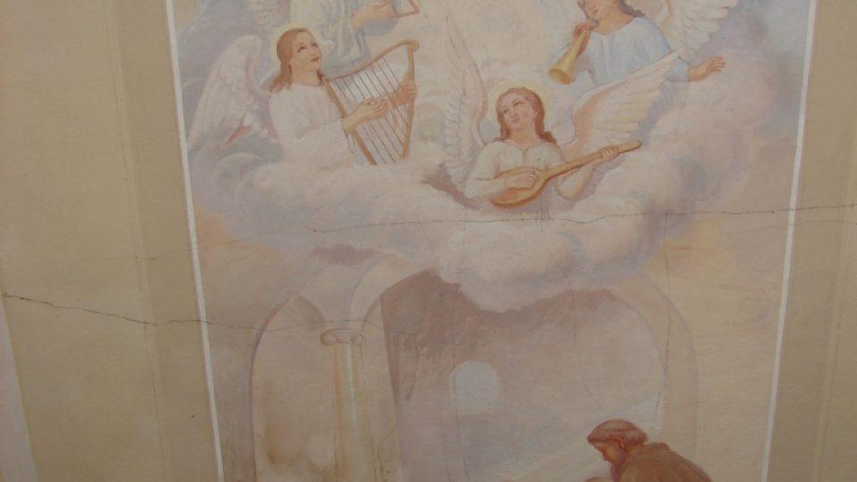 Kostel Svatého Martina - stropní malba