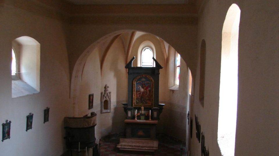 Kostel Svatého Martina - pohled z kůru