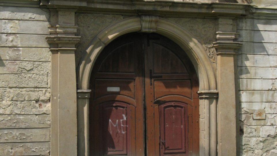 Zámek Biskupice u Jevíčka - portál