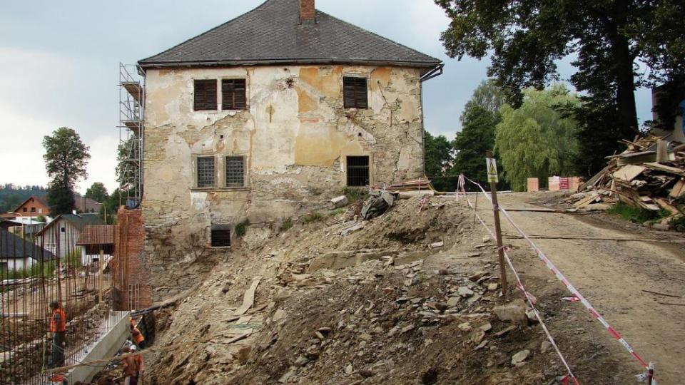Zámek Orlice u Letohradu - probíhající archeologické průzkumy
