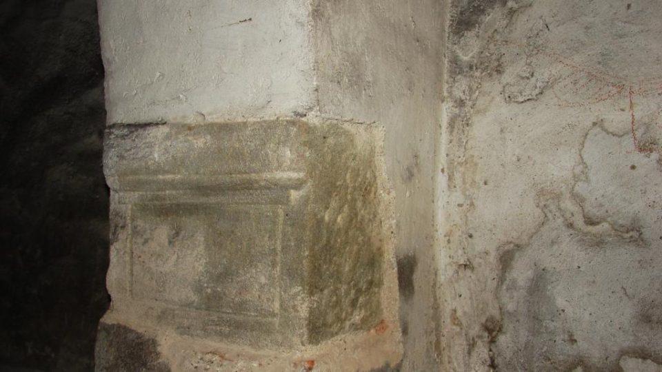 Zámek Orlice u Letohradu - detail sloupu