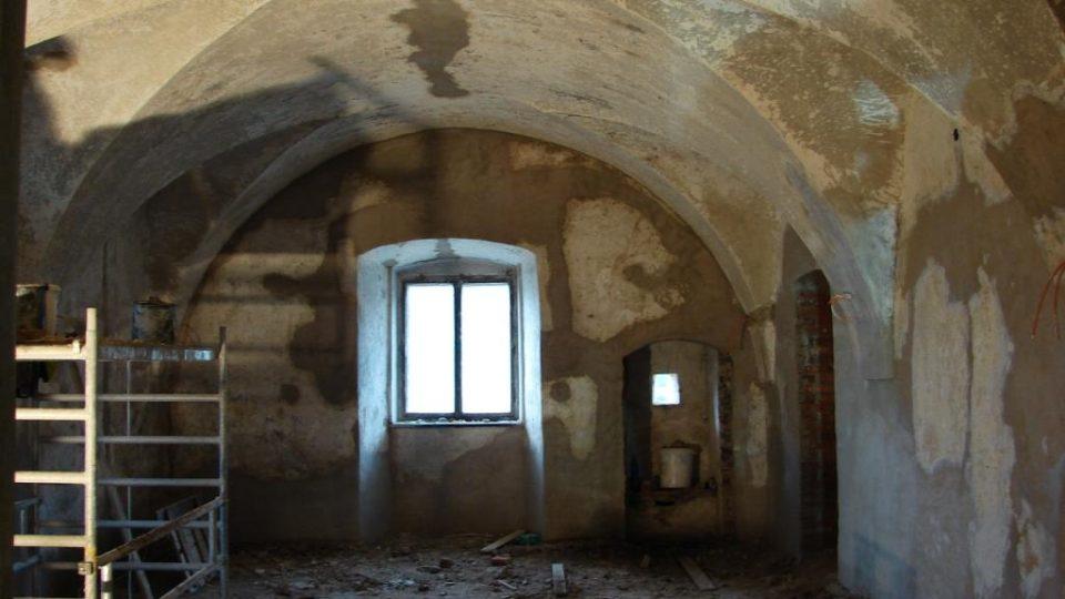 Zámek Orlice u Letohradu - obytná místnost v přízemí