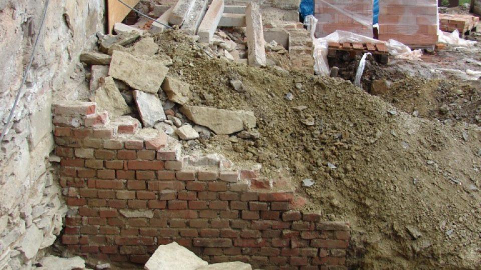 Zámek Orlice u Letohradu - archeologické práce