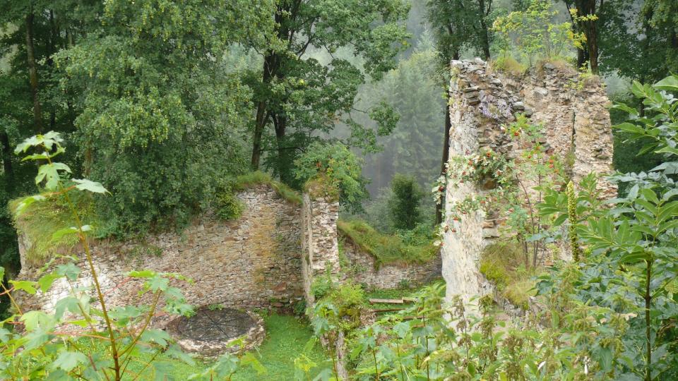Zbytky hradu Šelmberk