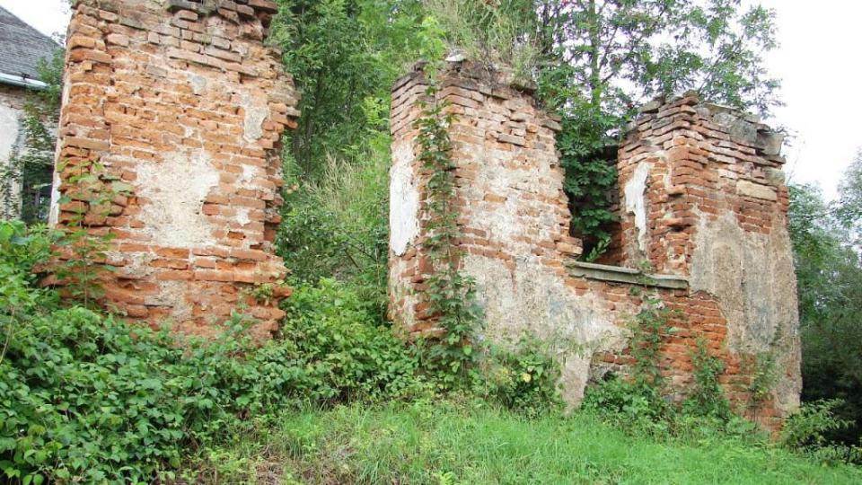 Zámek Vranová Lhota - zbytky východního křídla