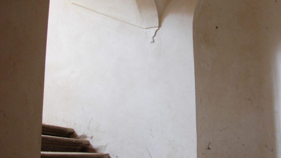Zámek Vranová Lhota - detail barokního schodiště