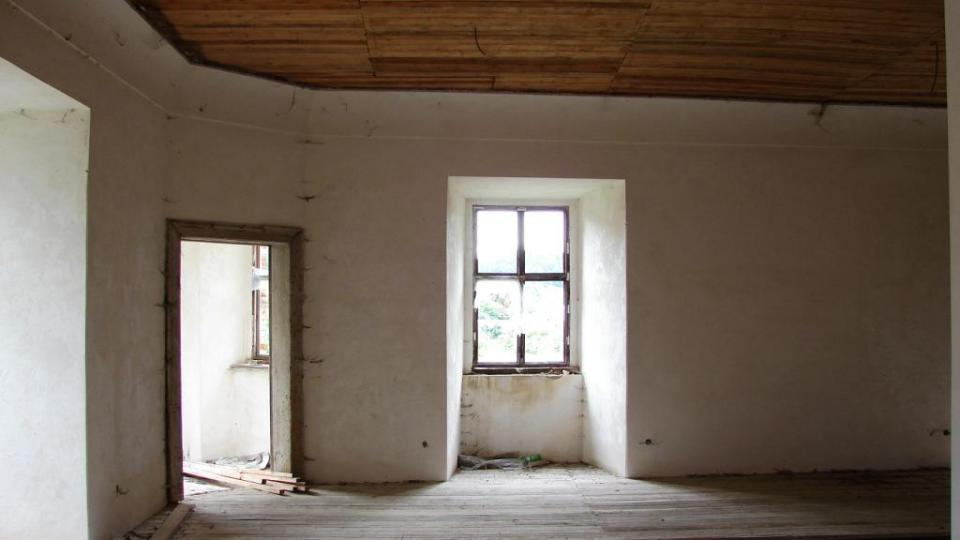 Zámek Vranová Lhota - někdejší obytné prostory zámeckého pána