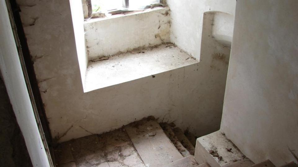 Zámek Vranová Lhota - služební schodiště