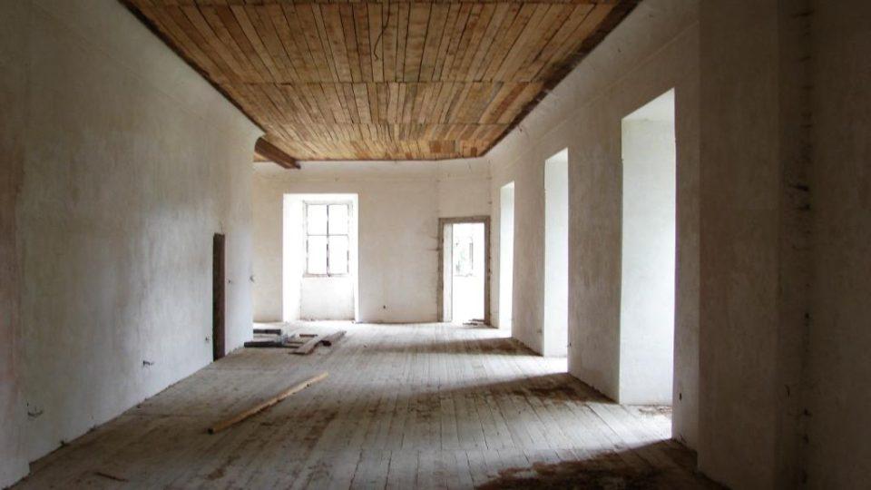 Zámek Vranová Lhota - někdejší obytné místnosti zámeckého pána