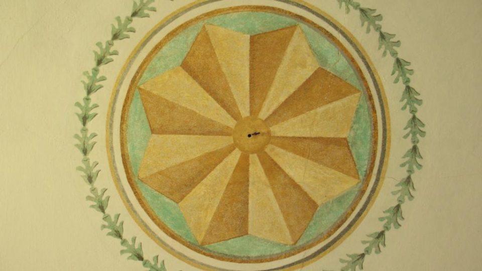 Fara ve Svinčanech - detail stropu ve slavnostním sále