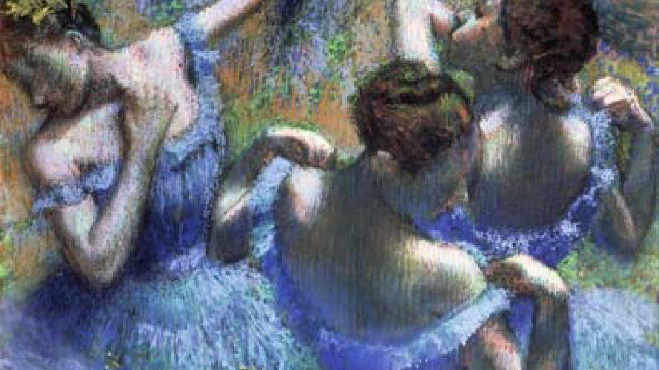 Edgar Degas, Modré tanečnice, 1898 –1899