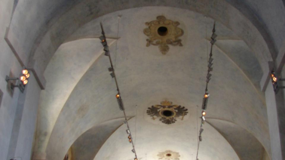 Muzeum soch v Chrudimi v bývalém kapucínském klášteře - strop