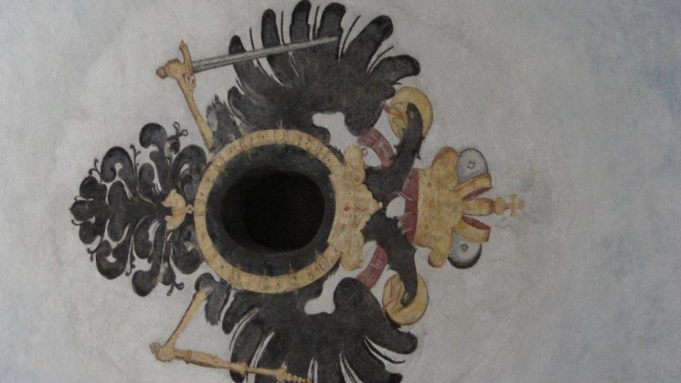 Muzeum soch v Chrudimi v bývalém kapucínském klášteře - detail stropu