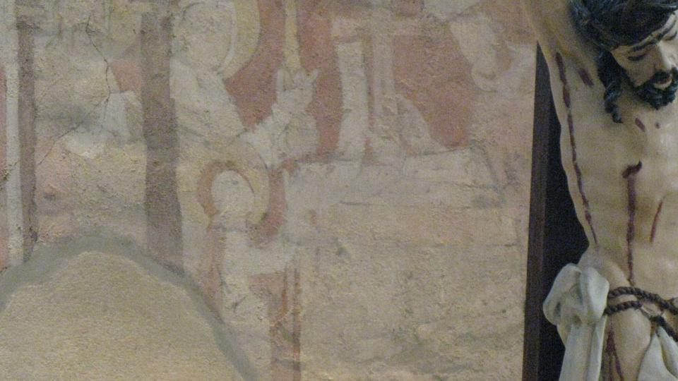 Uvedení Panny Marie do chrámu ve stylu popularizace. Chrám je zde totiž naznačen křížem, který v té době ještě nebyl užíván