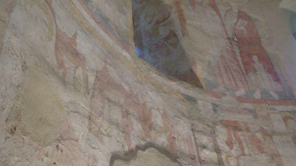 Románské malby v kostele Stětí sv. Jana Křtitele mapují podle prof. Royta celé dějiny spásy