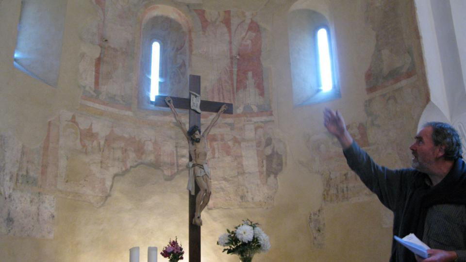 O malbách v kostele přednášel prof. Jan Royt z Ústavu pro dějiny umění FF UK