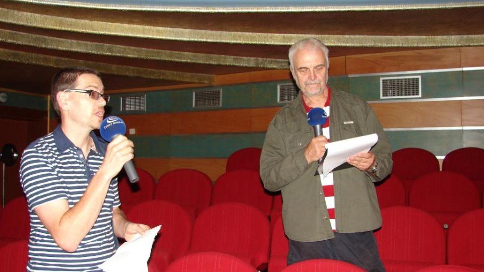 Vladimír Čech a Pavel Panoch natáčí v chrudimském divadle