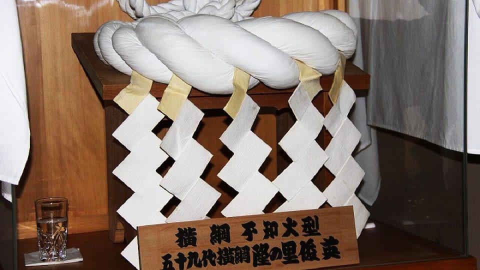 Provazový symbol nejlepšího bojovníka Jokozuny