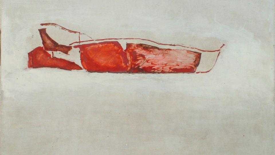 Pohřeb papeže, 2005, olej a akryl na sololitu, Wannieck Gallery, sbírka Richarda Adama