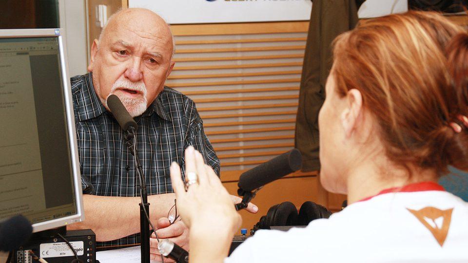 Karel Čáslavský odpovídal na otázky Lucie Výborné