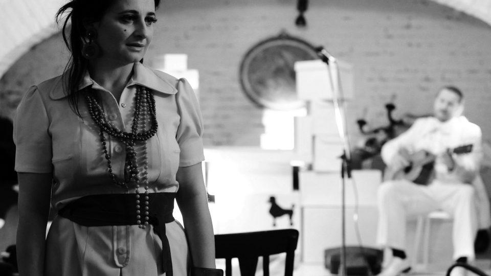 Vanda Drozdová na vystoupení scat.olmerová