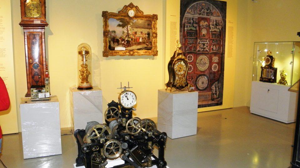 Expozice času - hodiny a hodinový stroj