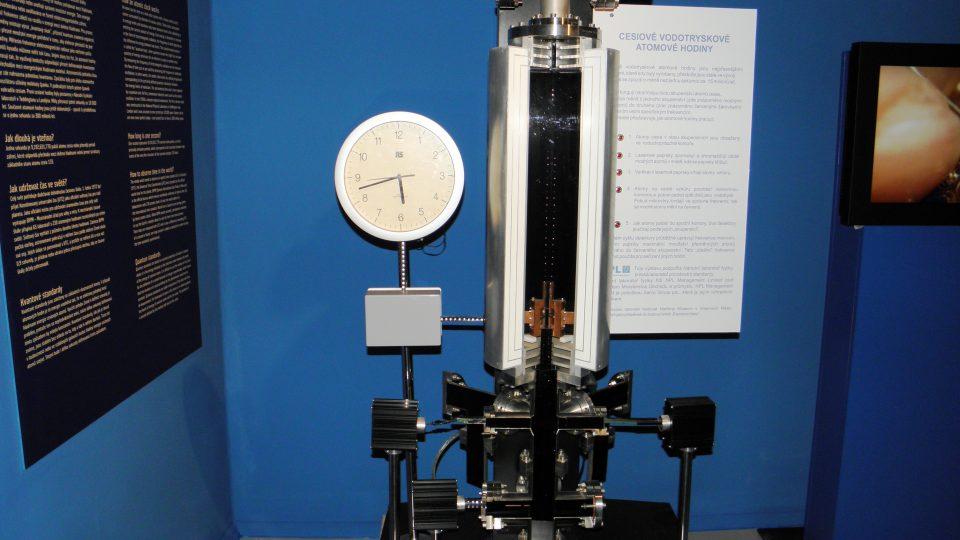 Expozice času - hodiny atomové