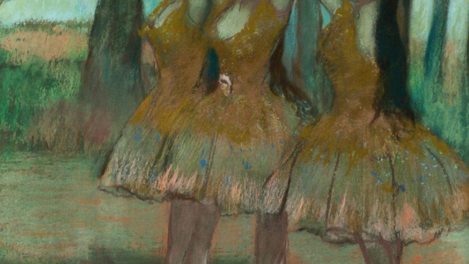 Edgar Degas, La Danse Grecque (pastel, 1885–1890)