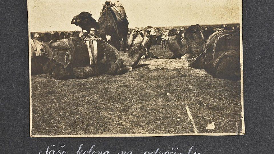 Rakousko-uherská jednotka při přesunu v palestinské poušti