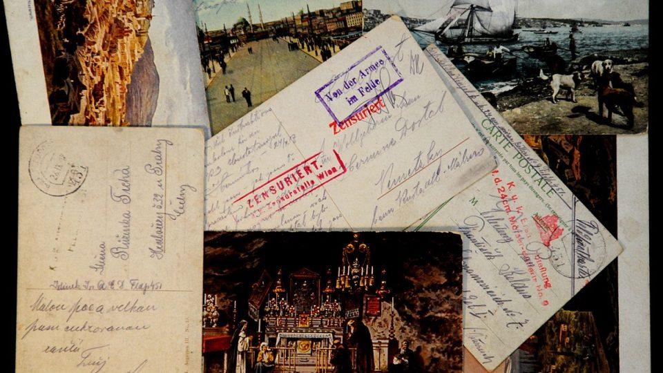 Polní pošta od českých vojáků v Orientu za 1. světové války