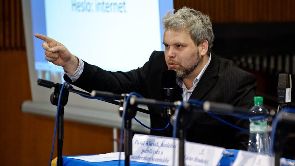 Hudební publicista Pavel Klusák