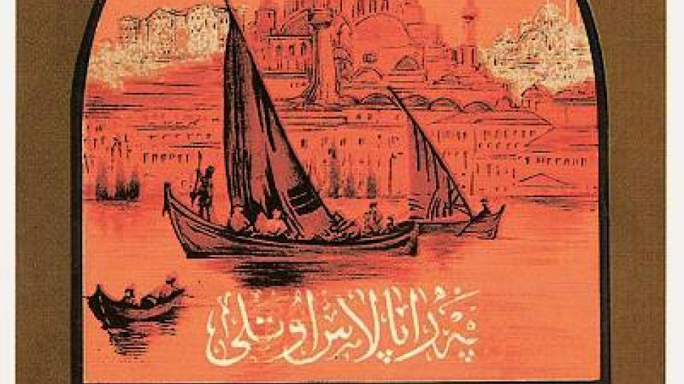 Plakát z osmanské éry propagující hotel Pera Palace