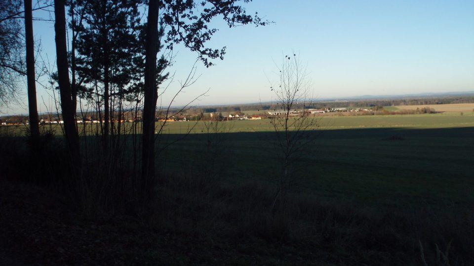 Výhled na obce Dunajovice z Dunajovické hory