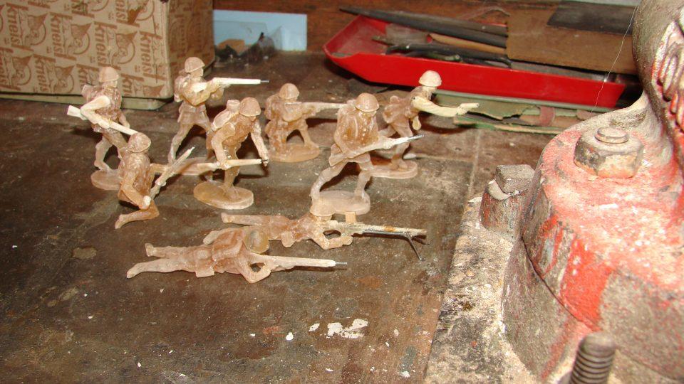 Miniatury vojáčků prvorepublikové Čs. armády