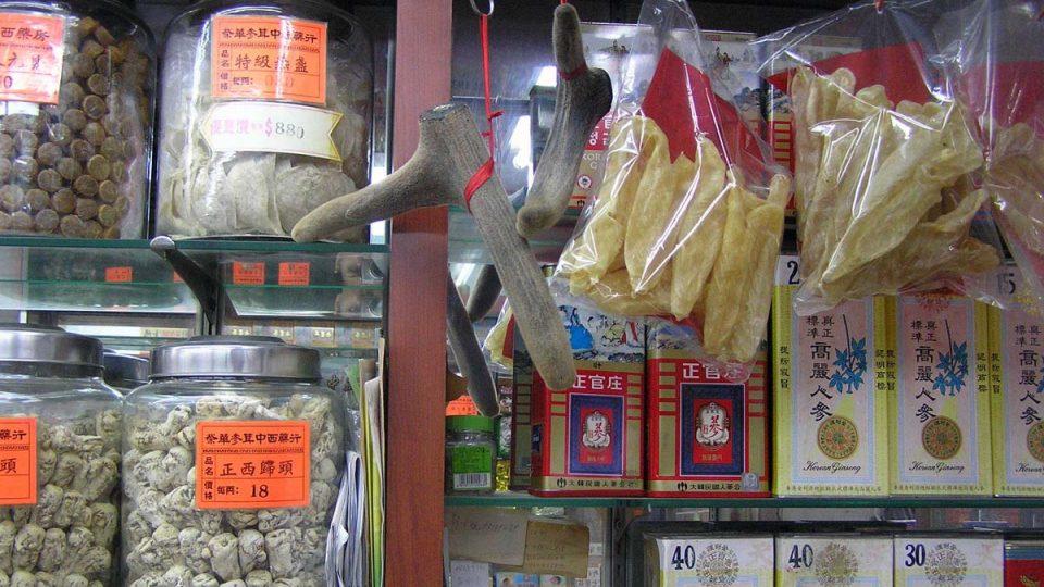 V čínských lékárnách nabízejí zvláštní produkty