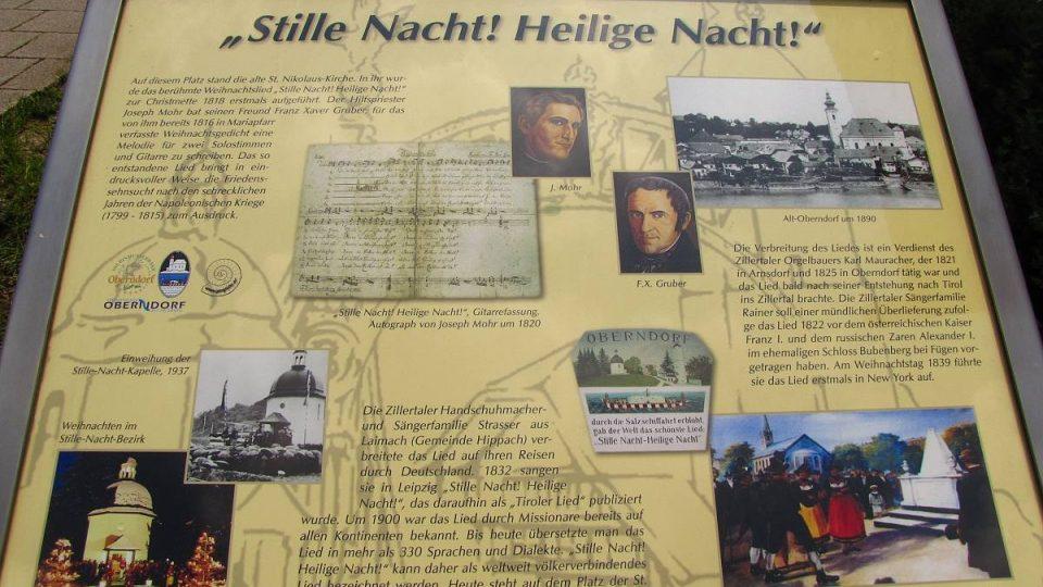 Právě v Oberndorfu byla Tichá noc poprvé veřejně předvedena