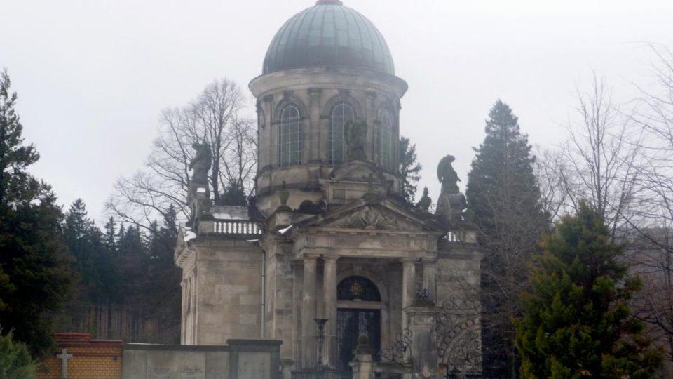 Po rodu Klingerů zbylo na kraji města majestátní mauzoleum