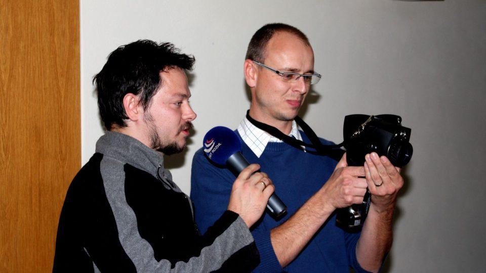 Ivan Studený a Jan Temr s termokamerou