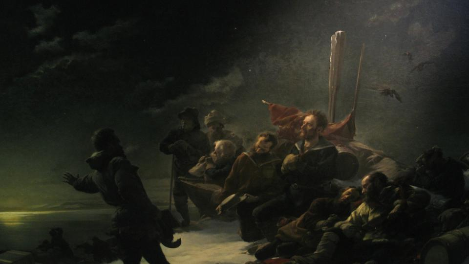 Julius Payer: Není návratu. Olej na plátně z roku 1892