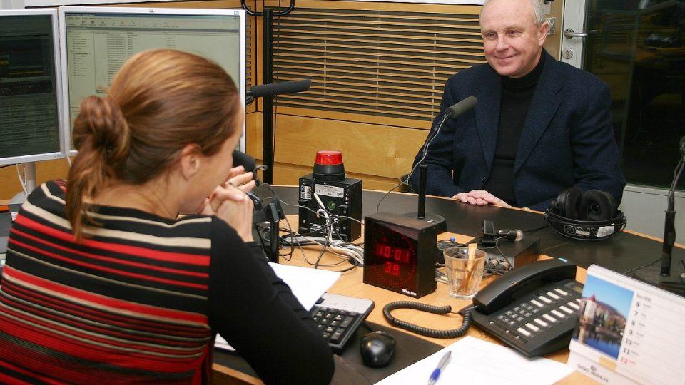 Jan Starý ve studiu s Lucií Výbornou