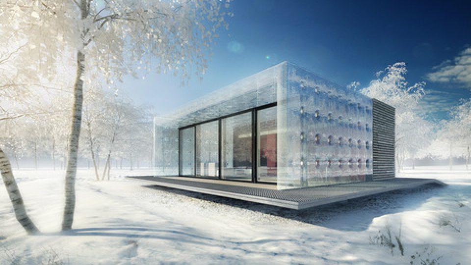 AIR house pro Solar Decathlon 2013 (návrh: tým ČVUT, vizualizace: cyrany.com)